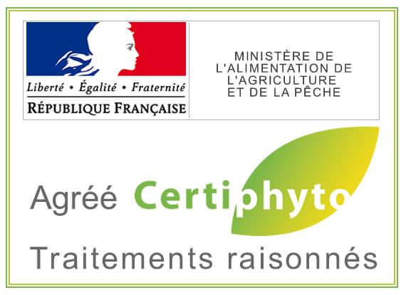 K GLOBAL Agréé Certiphyto par le Ministère de l'Agriculture